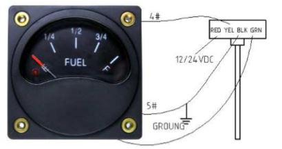 jauge essence simple avec alarme