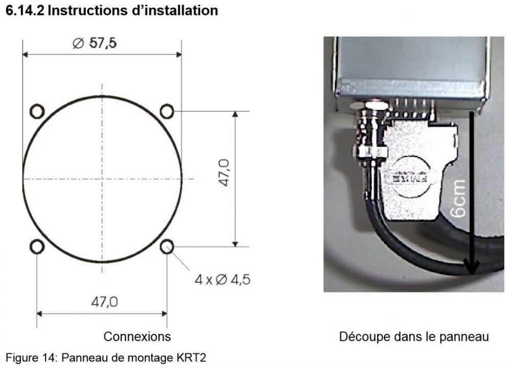 krt2 dimensions facade arrière