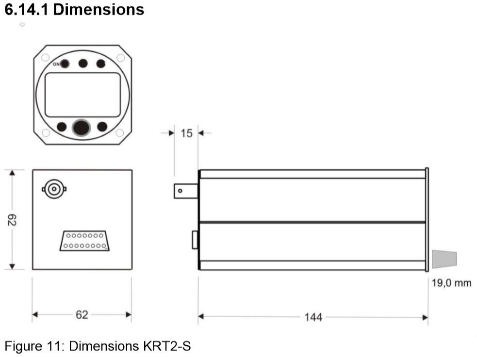 krt2 dimensions